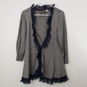 Anthropologie Guinevere Ruffle Cardigan